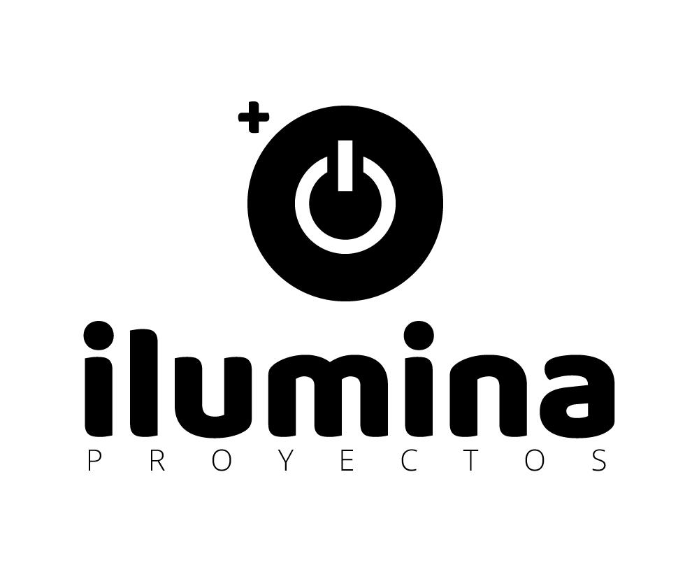logo ilumina proyectos vertical